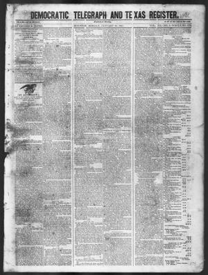 Primary view of object titled 'Democratic Telegraph and Texas Register (Houston, Tex.), Vol. 12, No. 3, Ed. 1, Monday, January 18, 1847'.