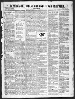 Primary view of object titled 'Democratic Telegraph and Texas Register (Houston, Tex.), Vol. 12, No. 4, Ed. 1, Monday, January 25, 1847'.