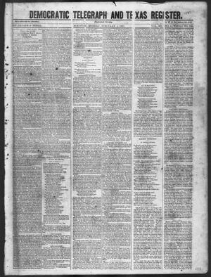 Primary view of object titled 'Democratic Telegraph and Texas Register (Houston, Tex.), Vol. 12, No. 5, Ed. 1, Monday, February 1, 1847'.