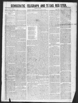 Primary view of object titled 'Democratic Telegraph and Texas Register (Houston, Tex.), Vol. 12, No. 7, Ed. 1, Monday, February 15, 1847'.