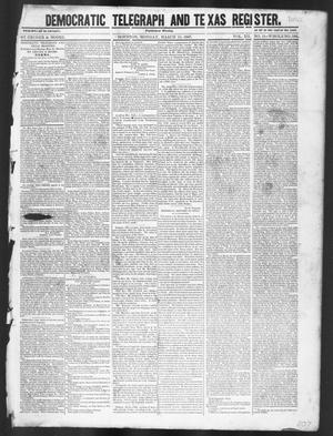 Primary view of object titled 'Democratic Telegraph and Texas Register (Houston, Tex.), Vol. 12, No. 11, Ed. 1, Monday, March 15, 1847'.