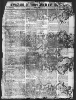 Primary view of object titled 'Democratic Telegraph and Texas Register (Houston, Tex.), Vol. 12, No. 12, Ed. 1, Monday, March 22, 1847'.