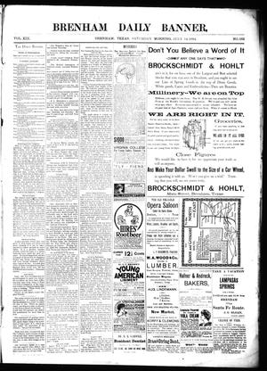 Primary view of object titled 'Brenham Daily Banner. (Brenham, Tex.), Vol. 19, No. 163, Ed. 1 Saturday, July 14, 1894'.