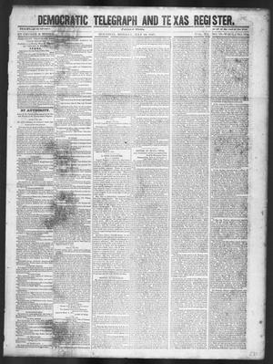 Primary view of object titled 'Democratic Telegraph and Texas Register (Houston, Tex.), Vol. 12, No. 19, Ed. 1, Monday, May 10, 1847'.