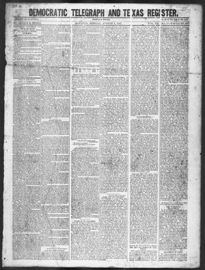 Primary view of object titled 'Democratic Telegraph and Texas Register (Houston, Tex.), Vol. 12, No. 32, Ed. 1, Monday, August 9, 1847'.