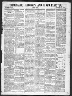 Primary view of object titled 'Democratic Telegraph and Texas Register (Houston, Tex.), Vol. 12, No. 34, Ed. 1, Monday, August 23, 1847'.