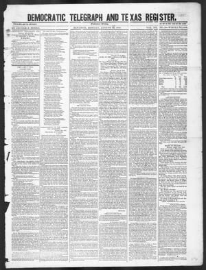 Primary view of object titled 'Democratic Telegraph and Texas Register (Houston, Tex.), Vol. 12, No. 35, Ed. 1, Monday, August 30, 1847'.