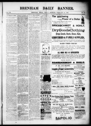 Primary view of object titled 'Brenham Daily Banner. (Brenham, Tex.), Vol. 20, No. 46, Ed. 1 Friday, February 22, 1895'.