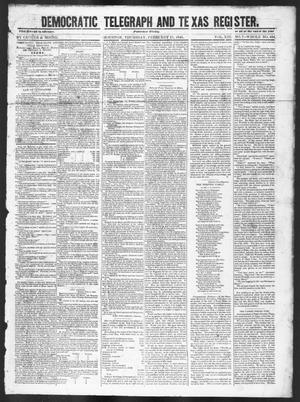 Primary view of object titled 'Democratic Telegraph and Texas Register (Houston, Tex.), Vol. 13, No. 7, Ed. 1, Thursday, February 17, 1848'.