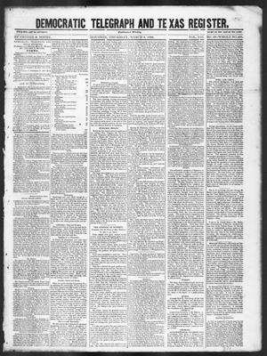 Primary view of Democratic Telegraph and Texas Register (Houston, Tex.), Vol. 13, No. 10, Ed. 1, Thursday, March 9, 1848