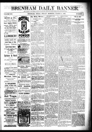 Primary view of object titled 'Brenham Daily Banner. (Brenham, Tex.), Vol. 12, No. 54, Ed. 1 Friday, March 4, 1887'.