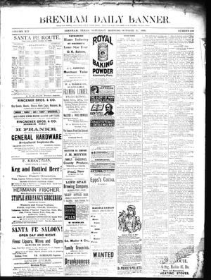 Primary view of object titled 'Brenham Daily Banner. (Brenham, Tex.), Vol. 14, No. 246, Ed. 1 Saturday, October 19, 1889'.