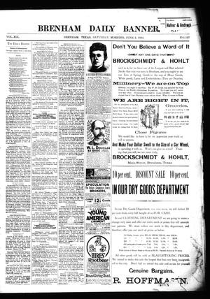 Primary view of object titled 'Brenham Daily Banner. (Brenham, Tex.), Vol. 19, No. 127, Ed. 1 Saturday, June 2, 1894'.