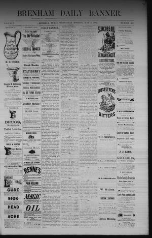 Primary view of object titled 'Brenham Daily Banner. (Brenham, Tex.), Vol. 7, No. 105, Ed. 1 Wednesday, May 3, 1882'.