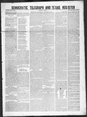 Primary view of Democratic Telegraph and Texas Register (Houston, Tex.), Vol. 13, No. 31, Ed. 1, Thursday, August 3, 1848