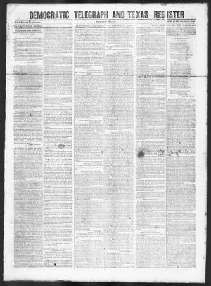 Primary view of object titled 'Democratic Telegraph and Texas Register (Houston, Tex.), Vol. 13, No. 43, Ed. 1, Thursday, October 26, 1848'.