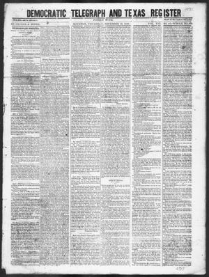 Primary view of Democratic Telegraph and Texas Register (Houston, Tex.), Vol. 13, No. 46, Ed. 1, Thursday, November 16, 1848