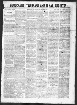 Primary view of Democratic Telegraph and Texas Register (Houston, Tex.), Vol. 13, No. 47, Ed. 1, Thursday, November 23, 1848