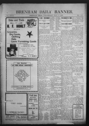 Primary view of object titled 'Brenham Daily Banner. (Brenham, Tex.), Vol. 27, No. 113, Ed. 1 Wednesday, July 9, 1902'.