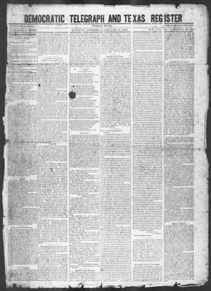 Primary view of object titled 'Democratic Telegraph and Texas Register (Houston, Tex.), Vol. 14, No. 2, Ed. 1, Thursday, January 11, 1849'.