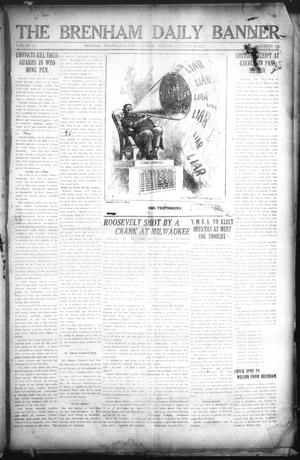 Primary view of object titled 'The Brenham Daily Banner (Brenham, Tex.), Vol. 29, No. 166, Ed. 1 Tuesday, October 15, 1912'.