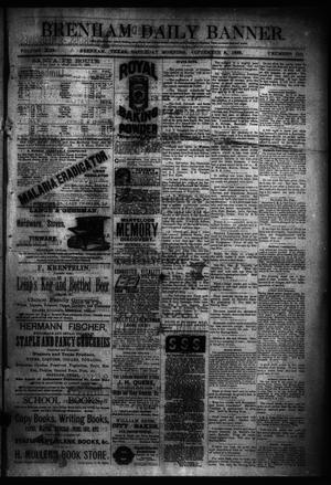 Primary view of object titled 'Brenham Daily Banner. (Brenham, Tex.), Vol. 13, No. 210, Ed. 1 Saturday, September 8, 1888'.