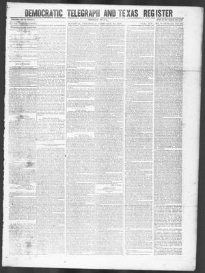 Primary view of Democratic Telegraph and Texas Register (Houston, Tex.), Vol. 14, No. 8, Ed. 1, Thursday, February 22, 1849