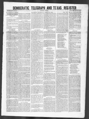 Primary view of object titled 'Democratic Telegraph and Texas Register (Houston, Tex.), Vol. 14, No. 11, Ed. 1, Thursday, March 15, 1849'.