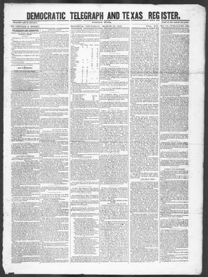 Primary view of Democratic Telegraph and Texas Register (Houston, Tex.), Vol. 14, No. 12, Ed. 1, Thursday, March 22, 1849