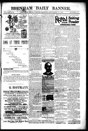 Primary view of object titled 'Brenham Daily Banner. (Brenham, Tex.), Vol. 17, No. 153, Ed. 1 Tuesday, September 27, 1892'.