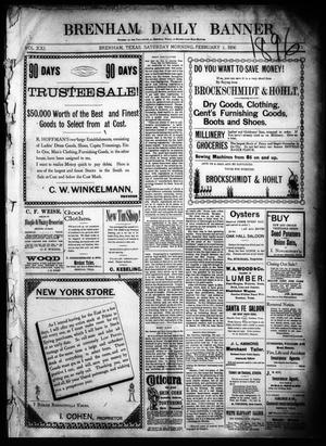 Primary view of object titled 'Brenham Daily Banner. (Brenham, Tex.), Vol. 21, No. 31, Ed. 1 Saturday, February 1, 1896'.
