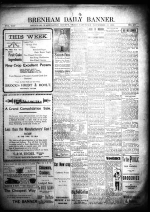 Primary view of object titled 'Brenham Daily Banner. (Brenham, Tex.), Vol. 25, No. 261, Ed. 1 Saturday, November 10, 1900'.
