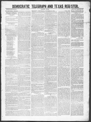 Democratic Telegraph and Texas Register (Houston, Tex.), Vol. 14, No. 42, Ed. 1, Friday, October 19, 1849