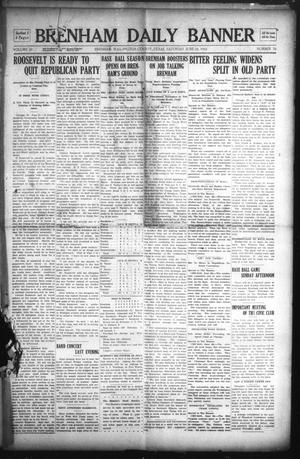 Primary view of object titled 'Brenham Daily Banner (Brenham, Tex.), Vol. 29, No. 76, Ed. 1 Saturday, June 22, 1912'.