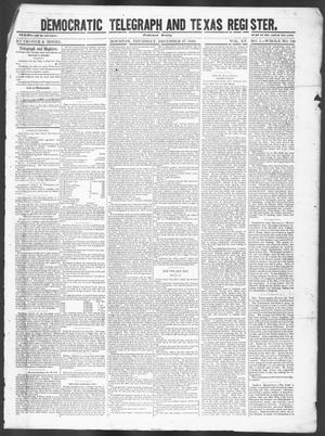 Primary view of object titled 'Democratic Telegraph and Texas Register (Houston, Tex.), Vol. 15, No. 1, Ed. 1, Thursday, December 27, 1849'.