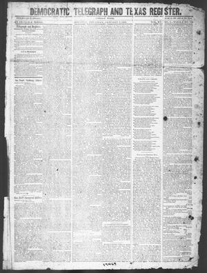 Primary view of object titled 'Democratic Telegraph and Texas Register (Houston, Tex.), Vol. 15, No. 2, Ed. 1, Thursday, January 3, 1850'.
