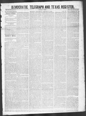Primary view of object titled 'Democratic Telegraph and Texas Register (Houston, Tex.), Vol. 15, No. 4, Ed. 1, Thursday, January 17, 1850'.