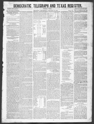 Primary view of object titled 'Democratic Telegraph and Texas Register (Houston, Tex.), Vol. 15, No. 5, Ed. 1, Thursday, January 31, 1850'.