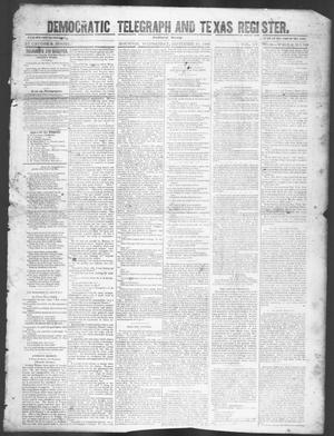 Democratic Telegraph and Texas Register (Houston, Tex.), Vol. 15, No. 38, Ed. 1, Wednesday, September 18, 1850