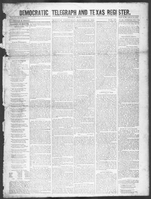 Primary view of object titled 'Democratic Telegraph and Texas Register. (Houston, Tex.), Vol. 15, No. 39, Ed. 1, Wednesday, September 25, 1850'.