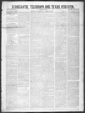 Primary view of object titled 'Democratic Telegraph and Texas Register. (Houston, Tex.), Vol. 15, No. 42, Ed. 1, Wednesday, October 16, 1850'.