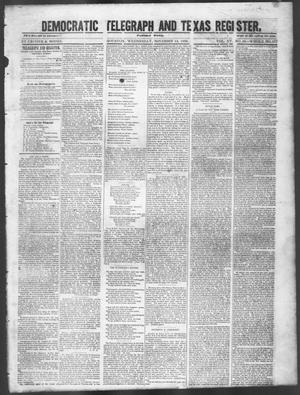 Primary view of object titled 'Democratic Telegraph and Texas Register. (Houston, Tex.), Vol. 15, No. 46, Ed. 1, Wednesday, November 13, 1850'.