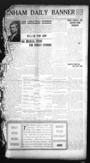 Primary view of object titled 'Brenham Daily Banner (Brenham, Tex.), Vol. 29, No. 196, Ed. 1 Tuesday, November 19, 1912'.