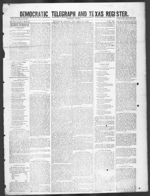 Primary view of object titled 'Democratic Telegraph and Texas Register (Houston, Tex.), Vol. 15, No. 50, Ed. 1, Friday, December 13, 1850'.