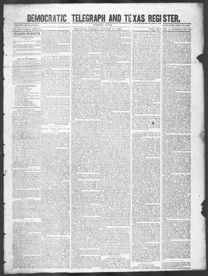 Primary view of object titled 'Democratic Telegraph and Texas Register (Houston, Tex.), Vol. 16, No. 2, Ed. 1, Friday, January 10, 1851'.