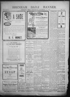 Primary view of object titled 'Brenham Daily Banner. (Brenham, Tex.), Vol. 27, No. 216, Ed. 1 Wednesday, November 19, 1902'.