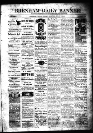 Primary view of object titled 'Brenham Daily Banner. (Brenham, Tex.), Vol. 10, No. 136, Ed. 1 Sunday, June 7, 1885'.
