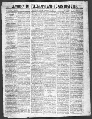 Primary view of Democratic Telegraph and Texas Register (Houston, Tex.), Vol. 16, No. 9, Ed. 1, Friday, February 28, 1851