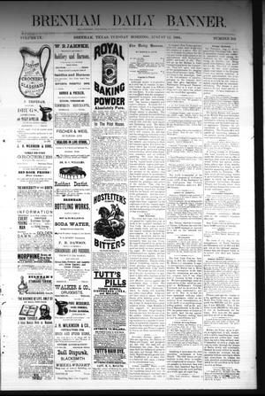 Primary view of object titled 'Brenham Daily Banner. (Brenham, Tex.), Vol. 9, No. 203, Ed. 1 Tuesday, August 12, 1884'.