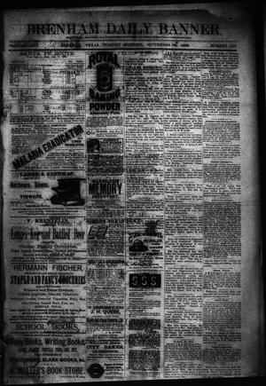 Primary view of object titled 'Brenham Daily Banner. (Brenham, Tex.), Vol. 13, No. 219, Ed. 1 Tuesday, September 18, 1888'.